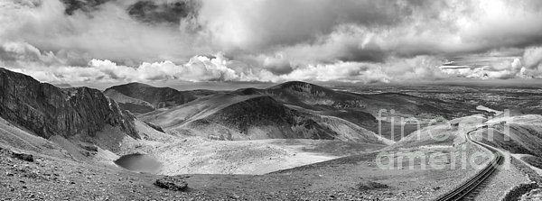 Snowdonia Panorama In Black And White Print by Jane Rix