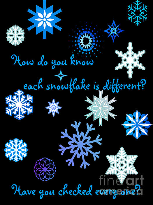 Snowflakes 2 Print by Methune Hively