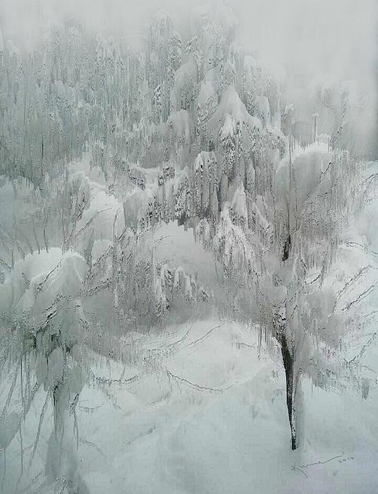 Snowland Print by Kume Bryant