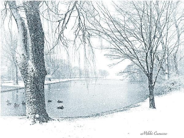 Snowy Day Print by Mikki Cucuzzo