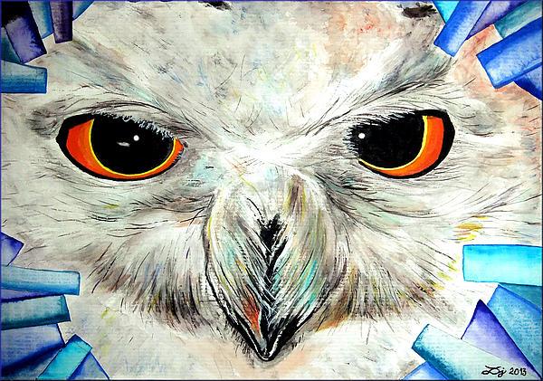 Snowy Owl - Female - Close Up Print by Daniel Janda