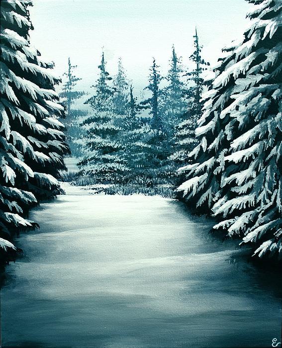 Snowy Path Print by Erin Scott
