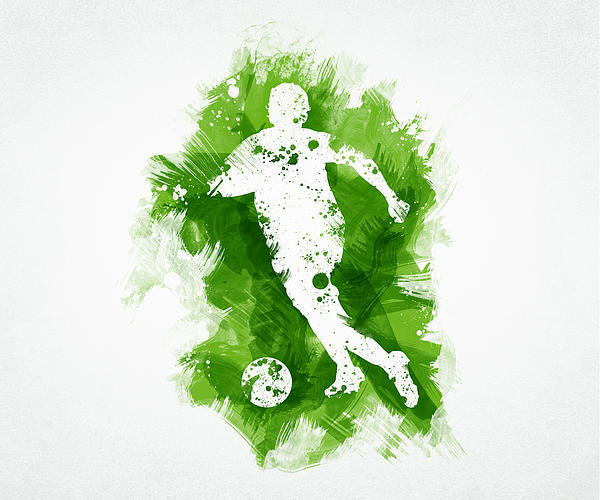Soccer Player Print by Aged Pixel