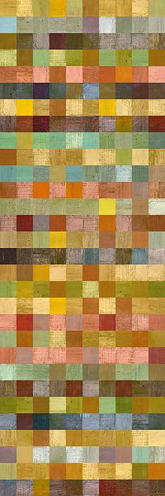 Soft Palette Rustic Wood Series Collage Lll Print by Michelle Calkins