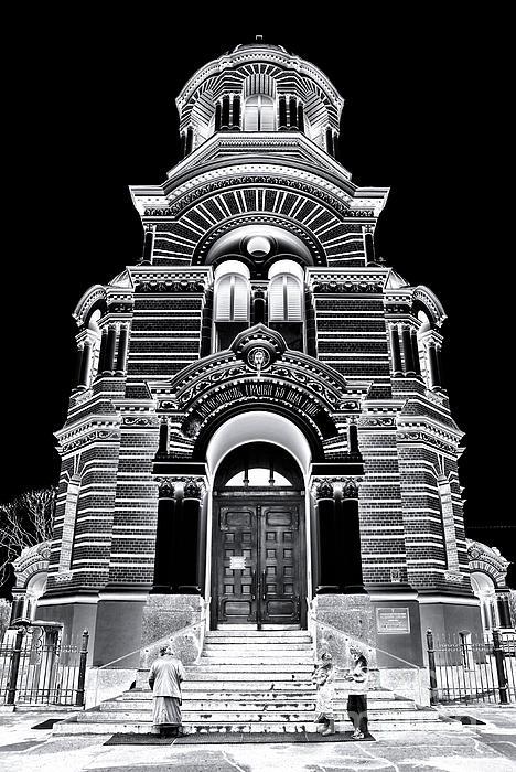 Solar Silver - Nativity Of Christ Orthodox Cathedral - Riga - Latvia Print by David Hill