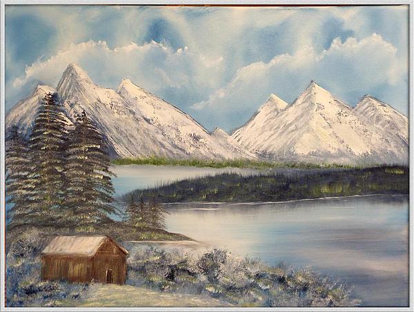 Solitude At The Lake Print by Joyce Krenson
