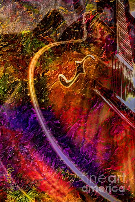 Song And Dance Digital Guitar Art By Steven Langston Print by Steven Lebron Langston