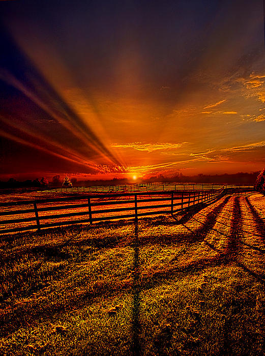 Song Of The Setting Sun Print by Phil Koch