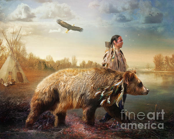 Sons Of The Earth Print by Trudi Simmonds