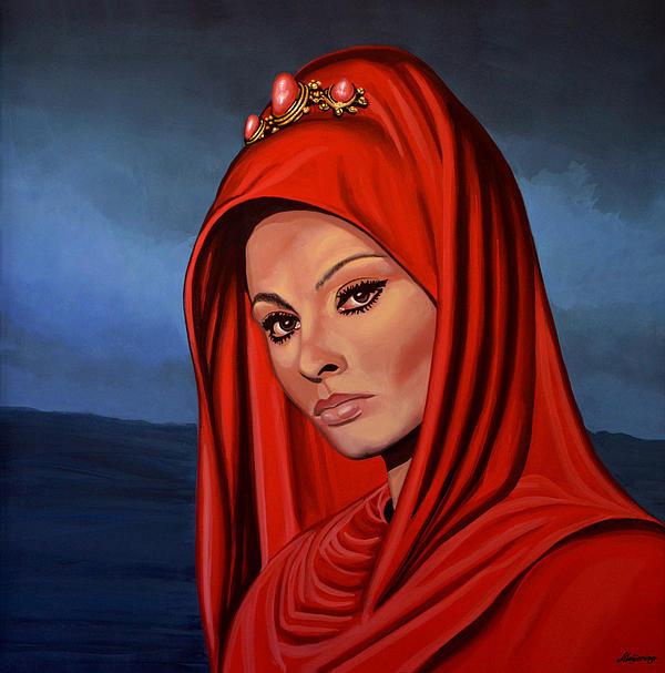 Sophia Loren Print by Paul  Meijering