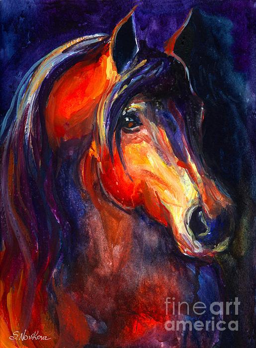 Soulful Horse Painting Print by Svetlana Novikova