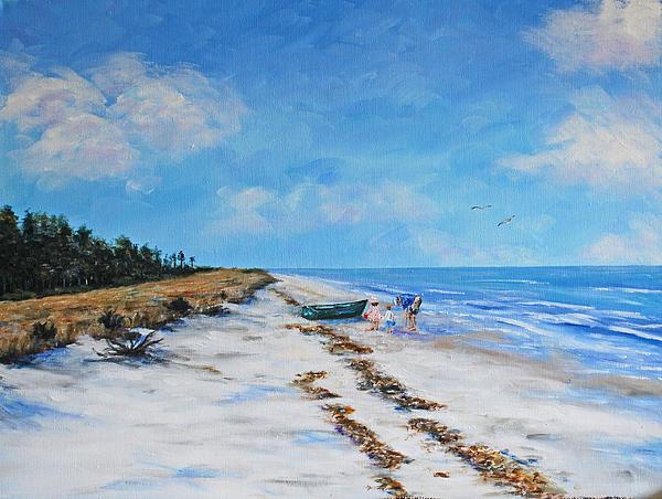 South Beach  Hilton Head Island Print by Stanton Allaben