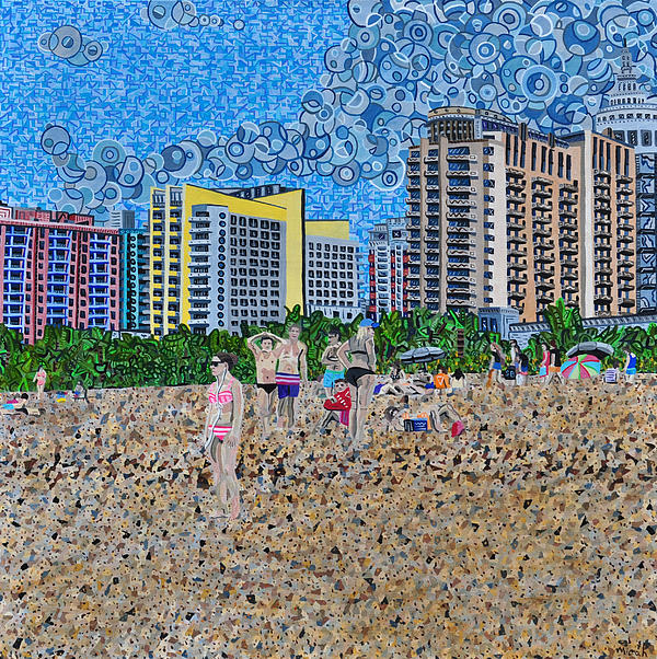 South Beach - Miami Print by Micah Mullen