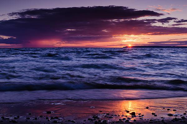 South Manitou Sunset Print by Thomas Pettengill