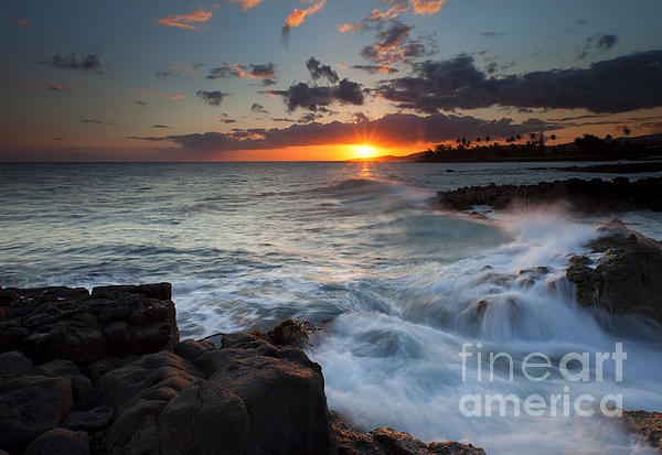 South Shore Waves Print by Mike  Dawson