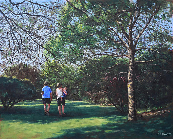 Southampton People In Park Print by Martin Davey