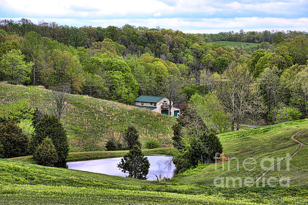 Southern Landscapes IIi Print by Chuck Kuhn