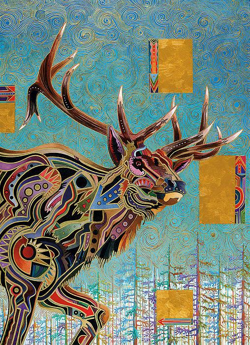 Southwestern Elk Print by Bob Coonts