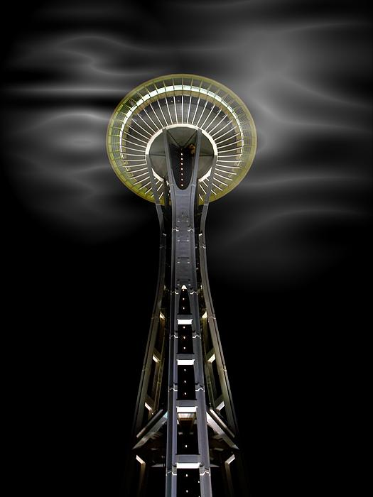 Space Needle And Clouds Print by Chalet Roome-Rigdon