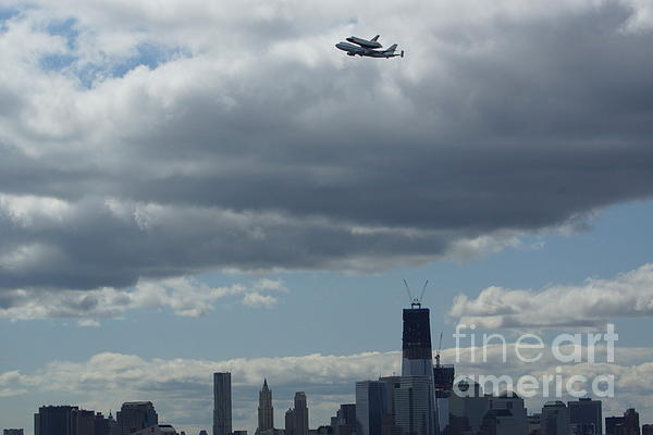 Space Shuttle Enterprise Flys Over Nyc Print by Steven Spak