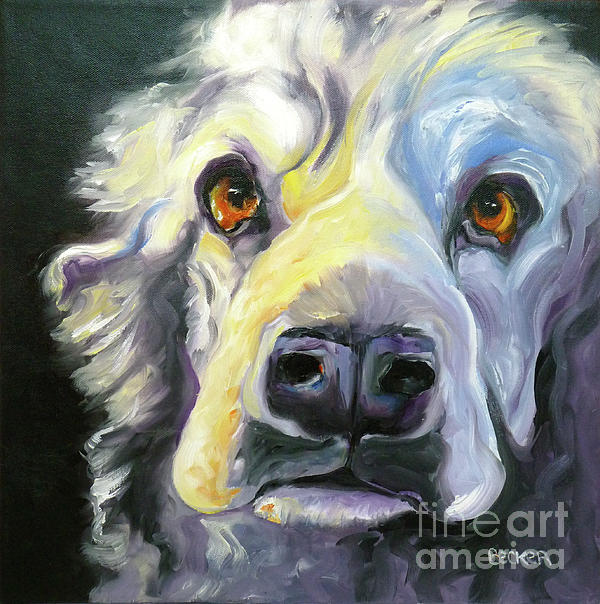 Spaniel In Thought Print by Susan A Becker