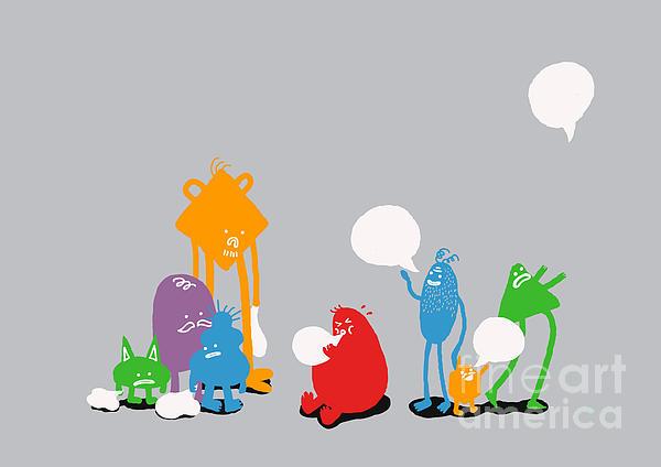 Speech Bubble Print by Budi Satria Kwan