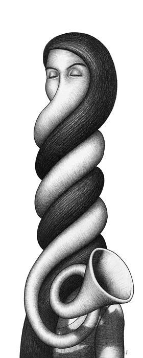 Spiral Trumpette Print by Shawn Feeney
