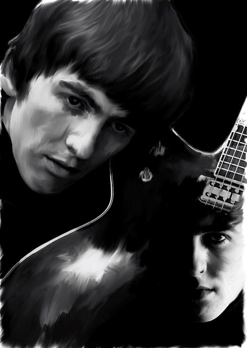 Spirit Play George Harrison Print by Iconic Images Art Gallery David Pucciarelli