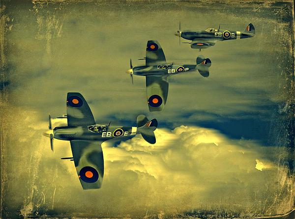 Spitfire Flight Print by Steven Agius