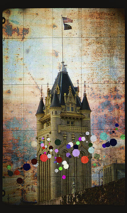 Splattered County Courthouse Print by Daniel Hagerman