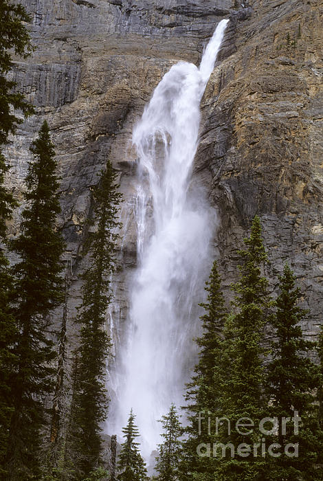 Splendor Of Takakkaw Falls Print by Bob Christopher