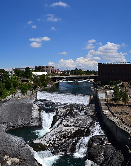 Spokane Falls And Riverfront Print by Michelle Calkins