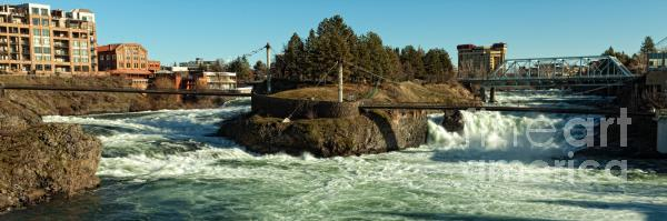 Spokane Falls - Spokane Washington Print by Reflective Moments  Photography and Digital Art Images