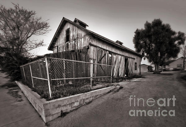 Spooky Chino Barn - 01 Print by Gregory Dyer