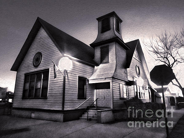 Spooky Chino Church - 01 Print by Gregory Dyer