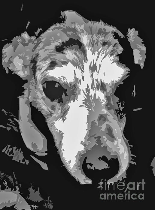 Spotted Dog Black And White Print by Minding My  Visions by Adri and Ray