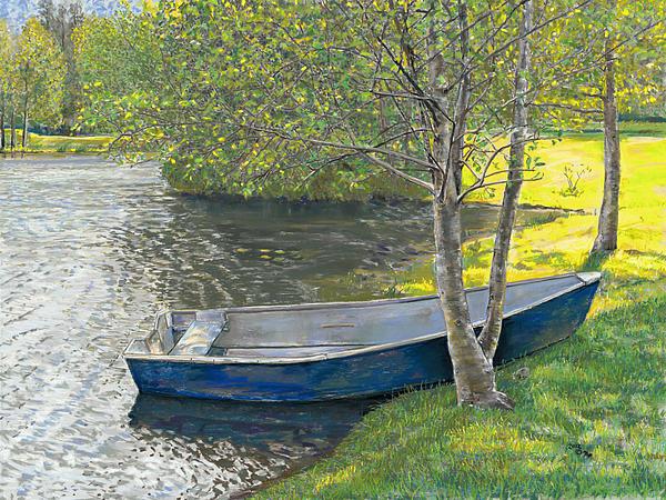 Spring At The Pond Print by Nick Payne