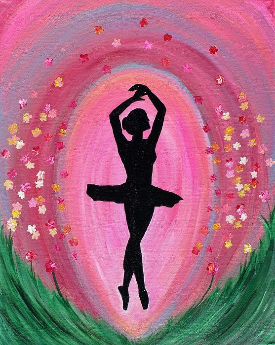 Spring Ballet Dancer Print by Vicki Kennedy