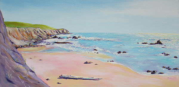 Asha Carolyn Young - Spring Hills and Seashore at Bowling Ball Beach