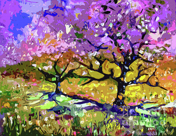 Ginette Callaway - Spring In Provence Modern Tree Landscape