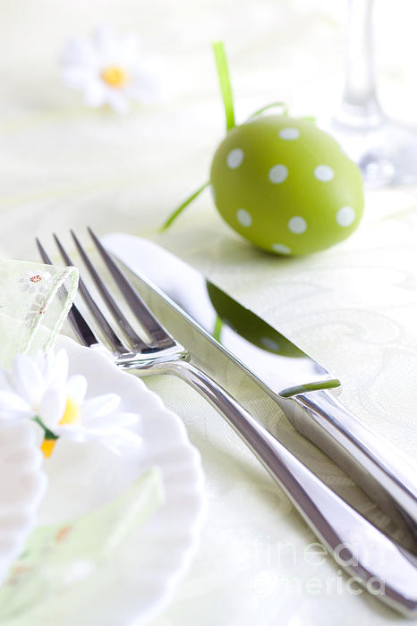 Spring Table Setting Print by Mythja  Photography