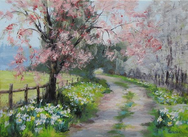Spring Walk Print by Karen Ilari