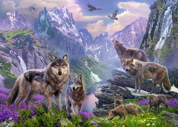 Spring Wolves Print by Jan Patrik Krasny