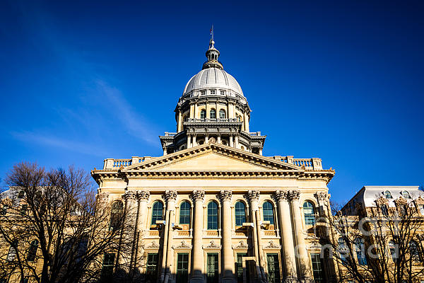 Springfield Illinois State Capitol Building Print by Paul Velgos