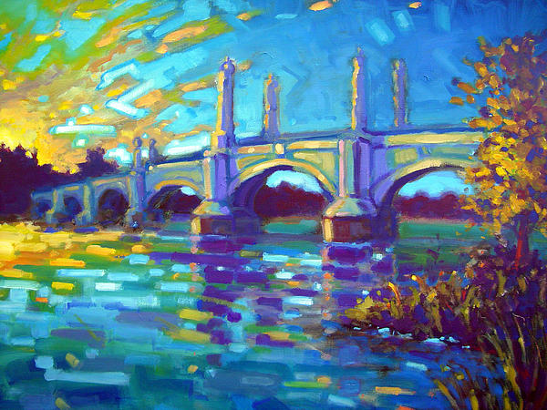 Springfield Memorial Bridge Print by Caleb Colon
