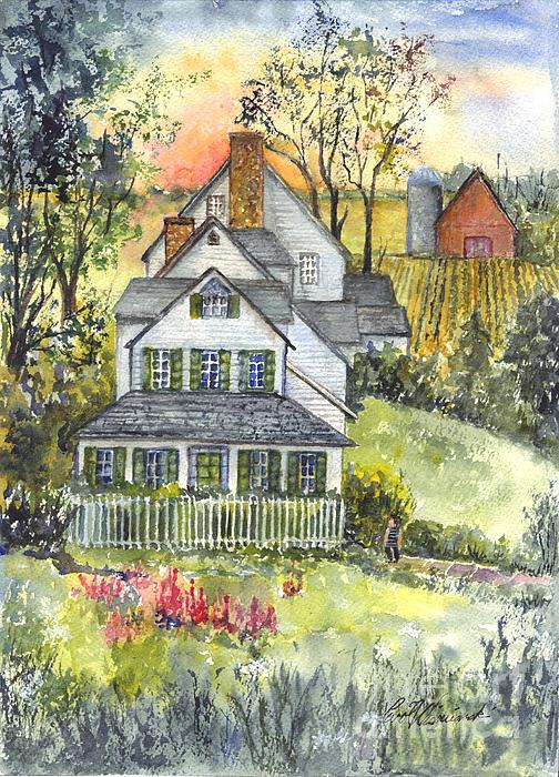 Springtime Down On The Farm Print by Carol Wisniewski