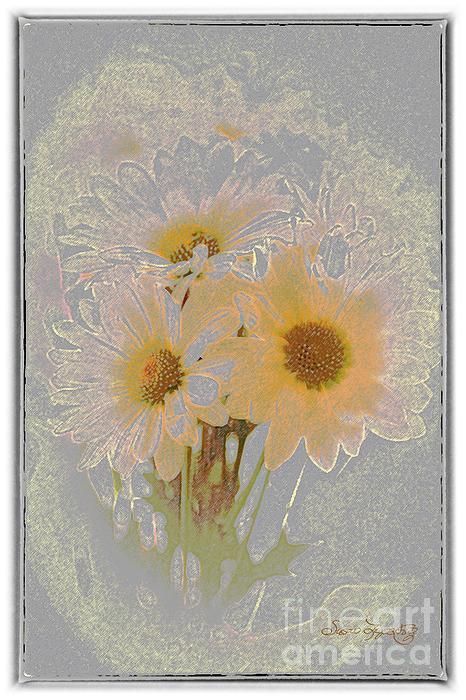 Sprinkled Daisies Print by Susan  Lipschutz