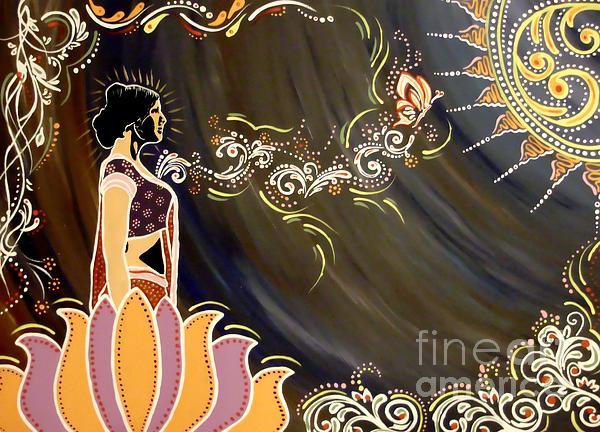 Sri Lalita Print by Meenakshi Malhotra