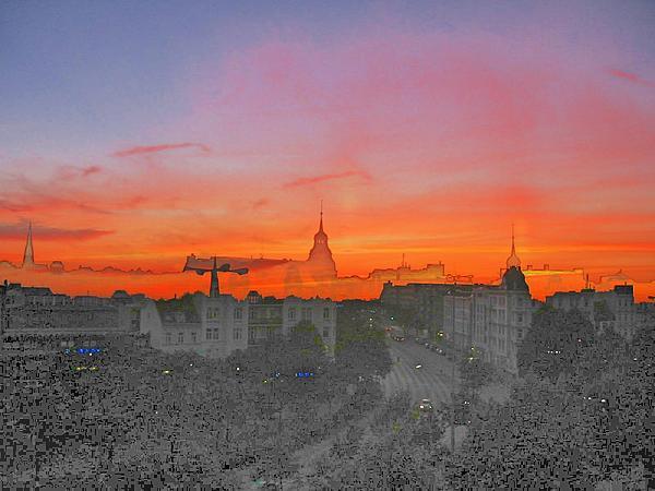St-art Sky Over Hamburg Print by Stefan Eckert