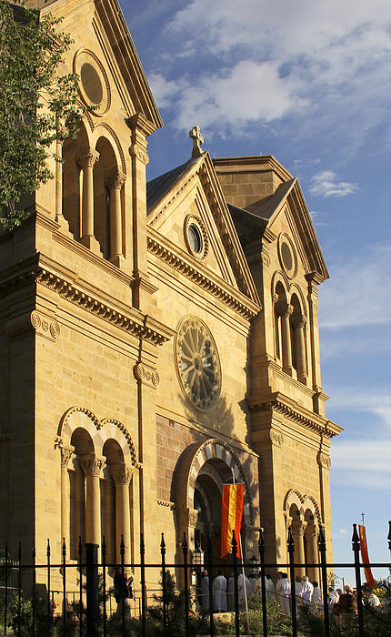 St. Francis Cathedral - Santa Fe Print by Mike McGlothlen